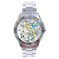 Abstract Fun Design Stainless Steel Men s Watch