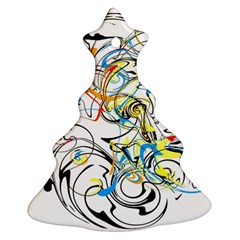Abstract Fun Design Christmas Tree Ornament (2 Sides)