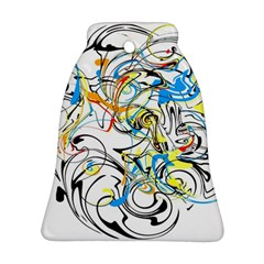 Abstract Fun Design Bell Ornament (2 Sides)