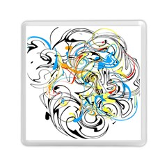 Abstract Fun Design Memory Card Reader (square)