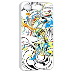 Abstract Fun Design Apple iPhone 4/4s Seamless Case (White)