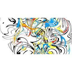 Abstract Fun Design You Are Invited 3d Greeting Card (8x4)