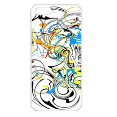 Abstract Fun Design Apple Iphone 5 Seamless Case (white)