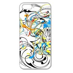 Abstract Fun Design Apple Seamless iPhone 5 Case (Clear)