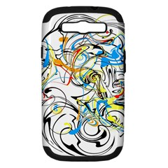 Abstract Fun Design Samsung Galaxy S Iii Hardshell Case (pc+silicone)