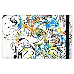 Abstract Fun Design Apple Ipad 2 Flip Case