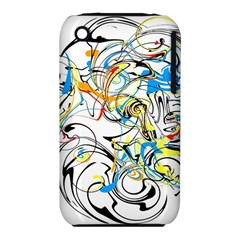 Abstract Fun Design Apple iPhone 3G/3GS Hardshell Case (PC+Silicone)