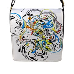 Abstract Fun Design Flap Messenger Bag (l)