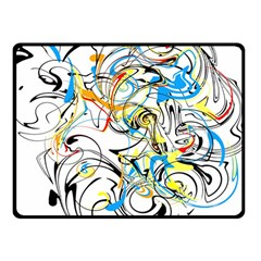Abstract Fun Design Double Sided Fleece Blanket (small)