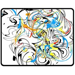 Abstract Fun Design Double Sided Fleece Blanket (medium)