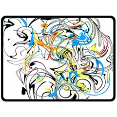 Abstract Fun Design Double Sided Fleece Blanket (Large)