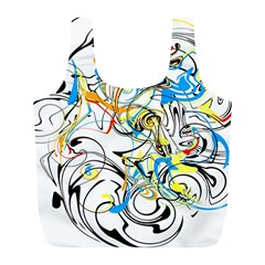 Abstract Fun Design Full Print Recycle Bags (l)