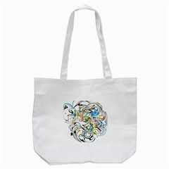 Abstract Fun Design Tote Bag (white)