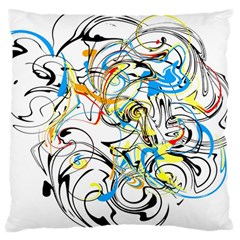 Abstract Fun Design Large Flano Cushion Cases (Two Sides)