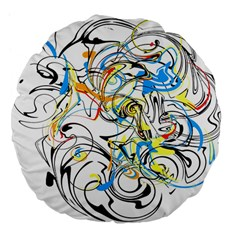 Abstract Fun Design Large 18  Premium Flano Round Cushions
