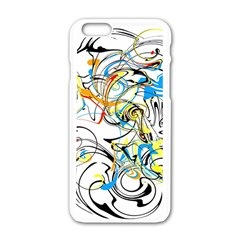 Abstract Fun Design Apple iPhone 6 White Enamel Case