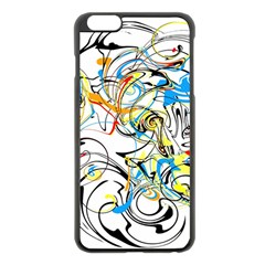 Abstract Fun Design Apple iPhone 6 Plus Black Enamel Case