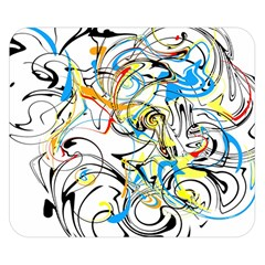 Abstract Fun Design Double Sided Flano Blanket (Small)