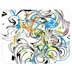 Abstract Fun Design Double Sided Flano Blanket (Medium)