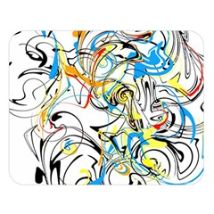 Abstract Fun Design Double Sided Flano Blanket (Large)