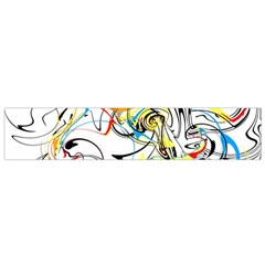 Abstract Fun Design Flano Scarf (small)