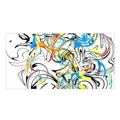 Abstract Fun Design Satin Shawl
