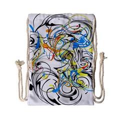 Abstract Fun Design Drawstring Bag (Small)