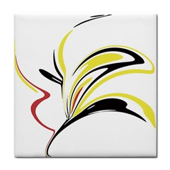 Abstract Flower Design Tile Coasters