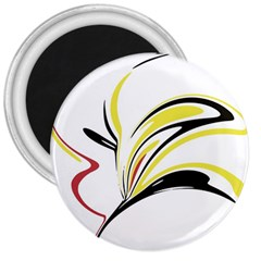 Abstract Flower Design 3  Magnets
