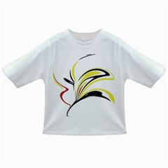 Abstract Flower Design Infant/Toddler T-Shirts