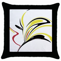 Abstract Flower Design Throw Pillow Cases (black)