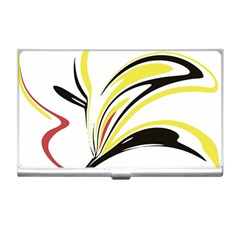 Abstract Flower Design Business Card Holders