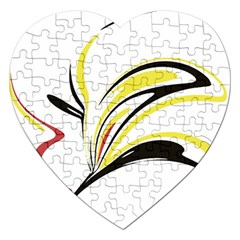 Abstract Flower Design Jigsaw Puzzle (Heart)