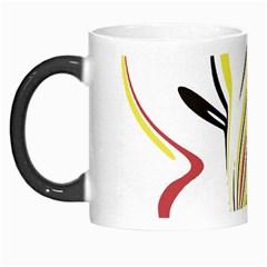 Abstract Flower Design Morph Mugs