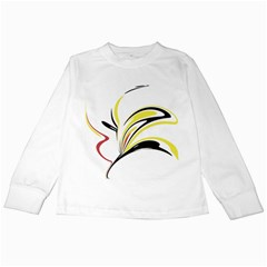 Abstract Flower Design Kids Long Sleeve T-Shirts