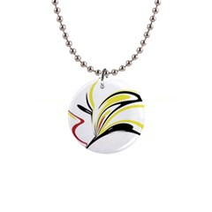Abstract Flower Design Button Necklaces