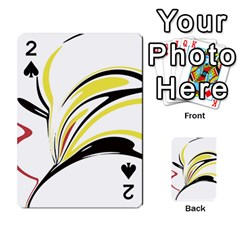 Abstract Flower Design Playing Cards 54 Designs