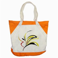 Abstract Flower Design Accent Tote Bag