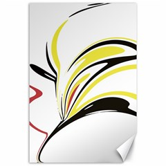 Abstract Flower Design Canvas 24  X 36