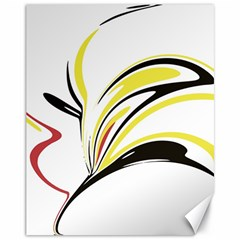 Abstract Flower Design Canvas 11  x 14