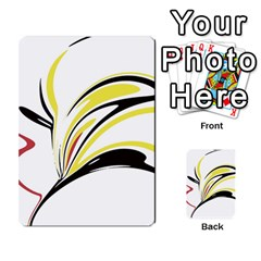 Abstract Flower Design Multi Purpose Cards (rectangle)