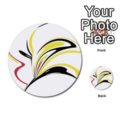 Abstract Flower Design Multi-purpose Cards (Round)