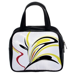 Abstract Flower Design Classic Handbags (2 Sides)