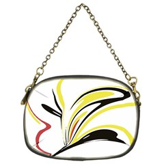 Abstract Flower Design Chain Purses (One Side)