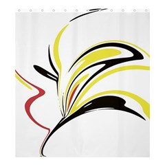 Abstract Flower Design Shower Curtain 66  X 72  (large)
