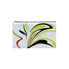 Abstract Flower Design Cosmetic Bag (small)
