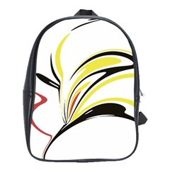 Abstract Flower Design School Bags(large)