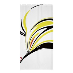 Abstract Flower Design Shower Curtain 36  x 72  (Stall)