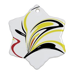 Abstract Flower Design Snowflake Ornament (2 Side)