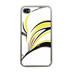 Abstract Flower Design Apple Iphone 4 Case (clear)